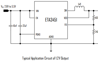 ETA3451高频同步降压变换器的详细英文数据手册
