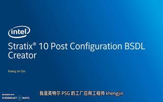 创建英特尔 Stratix 10 后配置BSDL文件的步骤