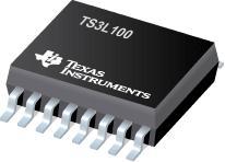 TS3L100 具有低导通电阻的四路 SPDT ...