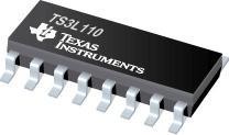 TS3L110 四路 SPDT 宽频带 10/100 ba<x>se-T 局域网开关差动 8 到 4 多路复用器/多路解复用器