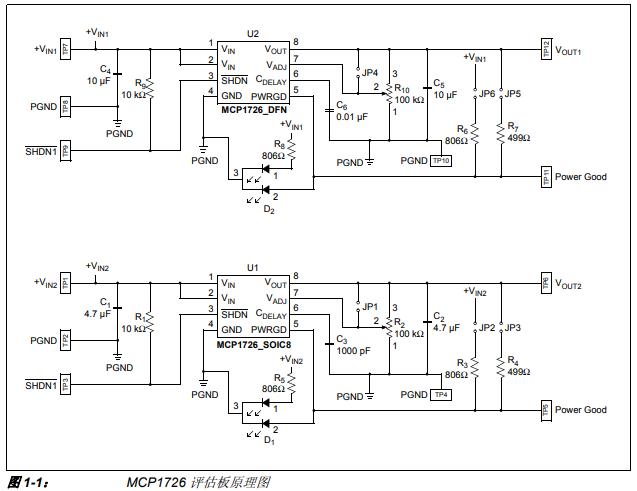如何使用MCP1726评估板开发工具的详细中文资料介绍