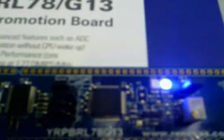 采用 RL78/G13 开发板控制实现定时器定时中断