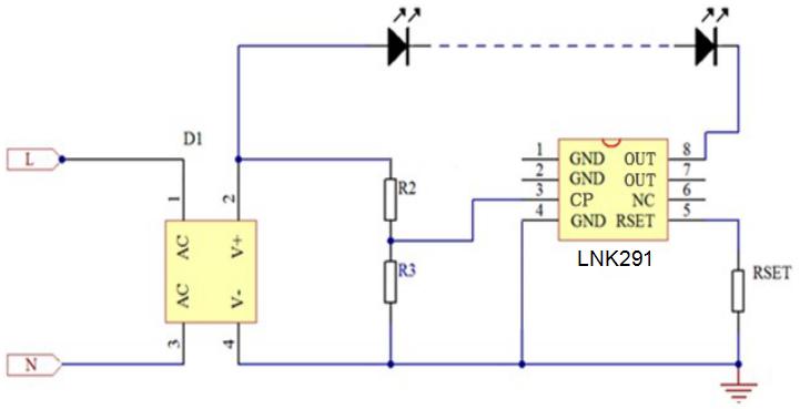 LNK291恒流驱动控制芯片的详细中文资料概述