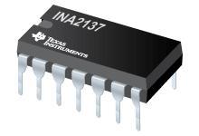 INA2137 音频差动线路接收器、+-6dB(G=1/2 或 2)