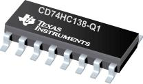 CD74HC138-Q1 汽车类高速 CMOS 逻辑 3 至 8 线路解码器多路解复用器(反向和非反向)