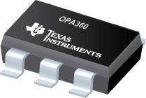 OPA360 采用 SC70 封装具有低通滤波器...