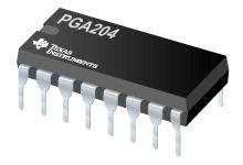 PGA204 可编程增益仪表放大器