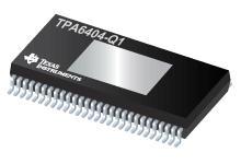 TPA6404-Q1 45W、2MHz 模擬輸入 4 通道汽車 D 類音頻放大器