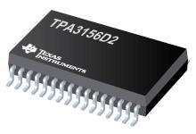 TPA3156D2 TPA3156D2 - 具有低空閑功率損耗的 2x70W、4.5V-26V、模擬輸入 D 類放大器
