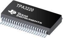 TPA3220 50W 立體聲/100W 峰值高清模擬輸入 D 類放大器(焊盤朝下)