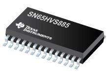 SN65HVS885 用于工业数字输入的带有 5V Vcc 的 8 输入宽 0-34V 数字输入串行器