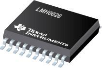 LMH0026 具有双路差动输出的 SD SDI 时钟恢复器