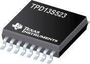 TPD13S523 具有 ESD 保护和限流负载开关的 13 通道 HDMI 端口解决方案