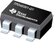 TPD4E001-Q1 用于高速数据接口的汽车低电容四通道 +/-15 kV ESD 保护阵列