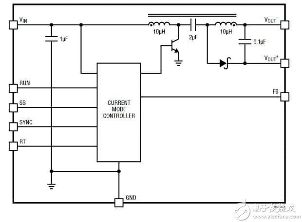 """""""图4:LMT8045是一款支持2.8V到18V输入,多拓扑结构的DC/DC"""