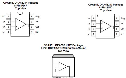 OPA552的英文数据手册和双电源应用电路以及典型的功率放大应用电路