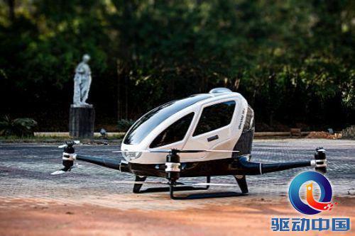 """【回顾往年CES】亿航自动驾驶载人飞行器""""亿航184""""惊艳亮相,首次实现全自动驾驶飞行"""