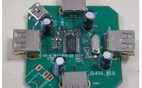 基于GL850G的USB HUB 的原理图和pcb电路图的详细资料概述