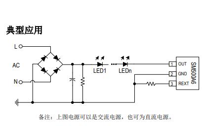 SM500A6单通道LED线性恒流恒温控制芯片的详细中文资料概述