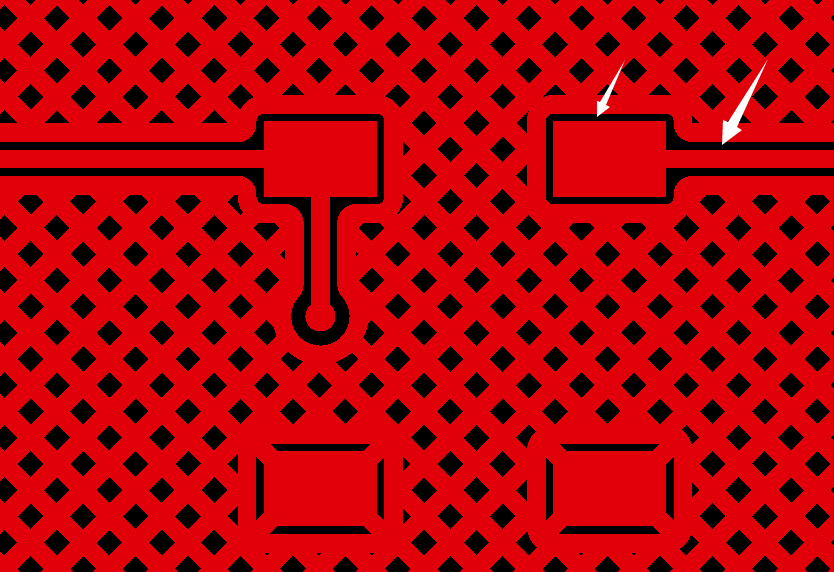 网格状铺铜间距示意图1