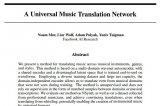 如何利用非监督学习实现了不同音乐间的乐器、体裁和风格间的转换