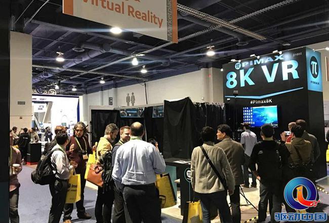 """【回顾往年CES】小派科技展示其""""小派8K""""VR头显设备,引众人关注"""