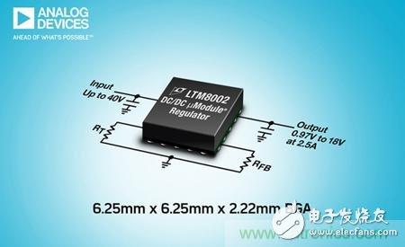 ADI 宣布推出 一款降压型 DC/DC µModule® (电源模块) 稳压器--LTM8002