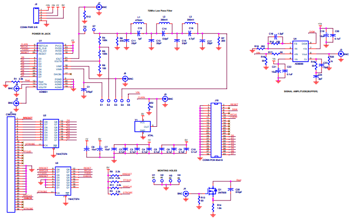 ad9850详细电路和管脚线路图的资料免费下载