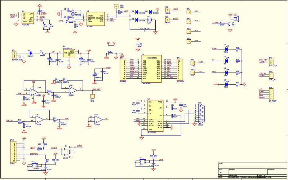 C8051F330ST的单片机开发板资料和实例以及硬件原理图的详细概述