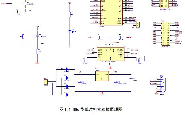 HG6型单片机实验板的原理图绘制PCB设计PCB板的输出与打印的概述