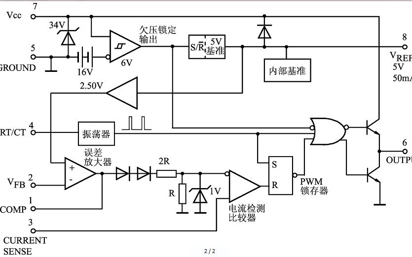UC3842开关电源的构成及原理和原理图及方框图的详细资料免费下载