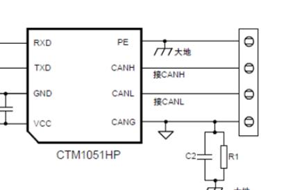 带有隔离CAN或RS-485通信接口模块设计