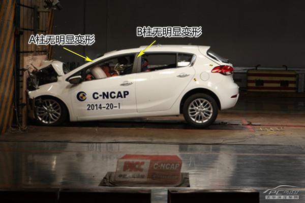 五分钟看完起亚K3S自动版 C-NCAP全部碰撞测试
