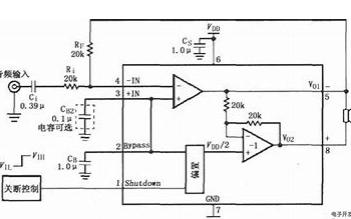 4×41W 汽车音响功率放大电路CD7388