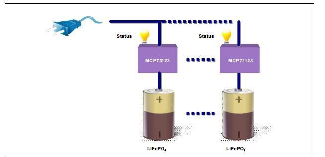 使用MCP73123设计低成本磷酸铁锂电池充电器