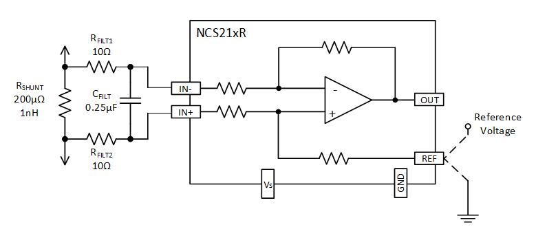 基于NCS21xR和NCS199AxR电流检测放大器的滤波电路设计