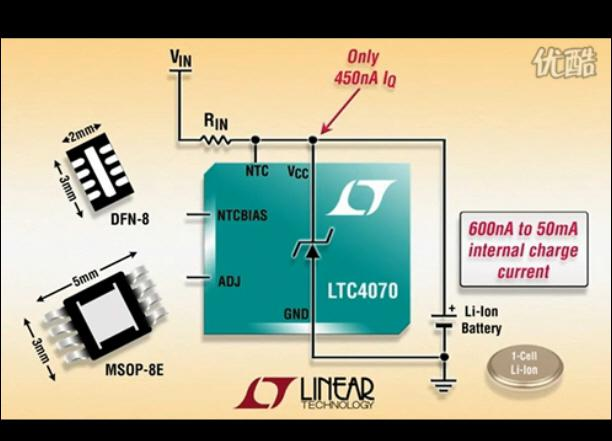 LTC4070 造就了一款电池充电器解决方案