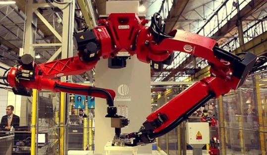 京东快递机器人亮相北京 工业机器人板块有望爆发