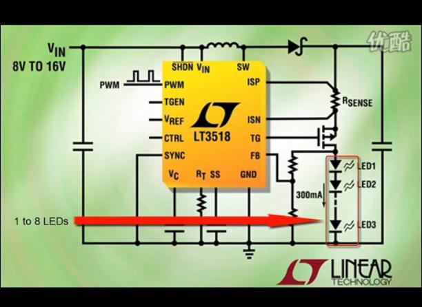 介绍 LT3518芯片的特点与应用