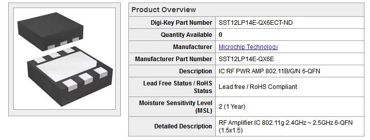SST12LP14E产品手册免费下载.pdf