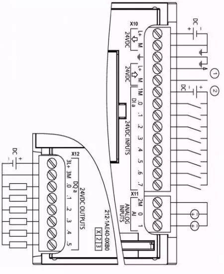 看看cpu 1211c是如何接线的?