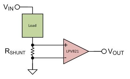使用毫微功耗运算放大器实现电流感应