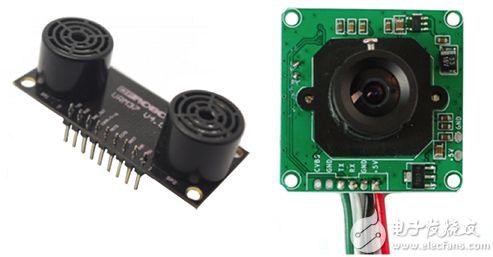 DFRobot URM37 v4.0 超声传感器和 Adafruit 397 摄像模块图片