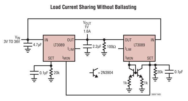具监视器的800mA单电阻器坚固型线性稳压器LT3089