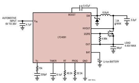 36V锂离子电池充电器和电源备份管理器-LTC?4091