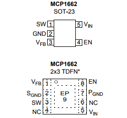 基于MCP1662带UVLO和开路负载保护的高电压升压LED驱动器