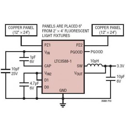 基于LTC3588的3.3V能量收集器电路分析