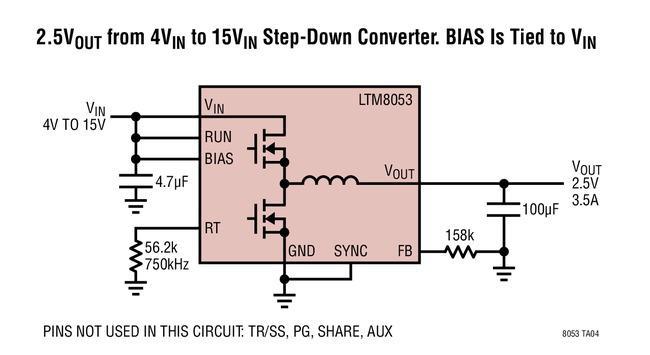 降压型μModule稳压器LTM8053