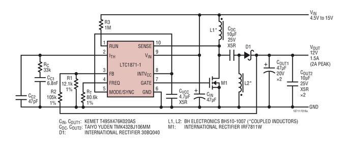 反激式或SEPIC控制器LTC1871-1