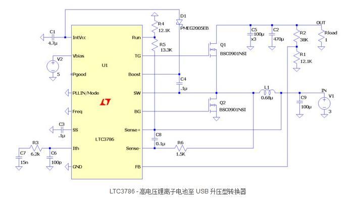 高性能同步升压型转换器控制器LTC3786,在高...